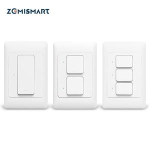 Image 4 - Zemismart新デザインジグビー 3.0 プッシュライトスイッチsmartthings制御米国au物理壁スイッチプッシュボタンインタラプタ