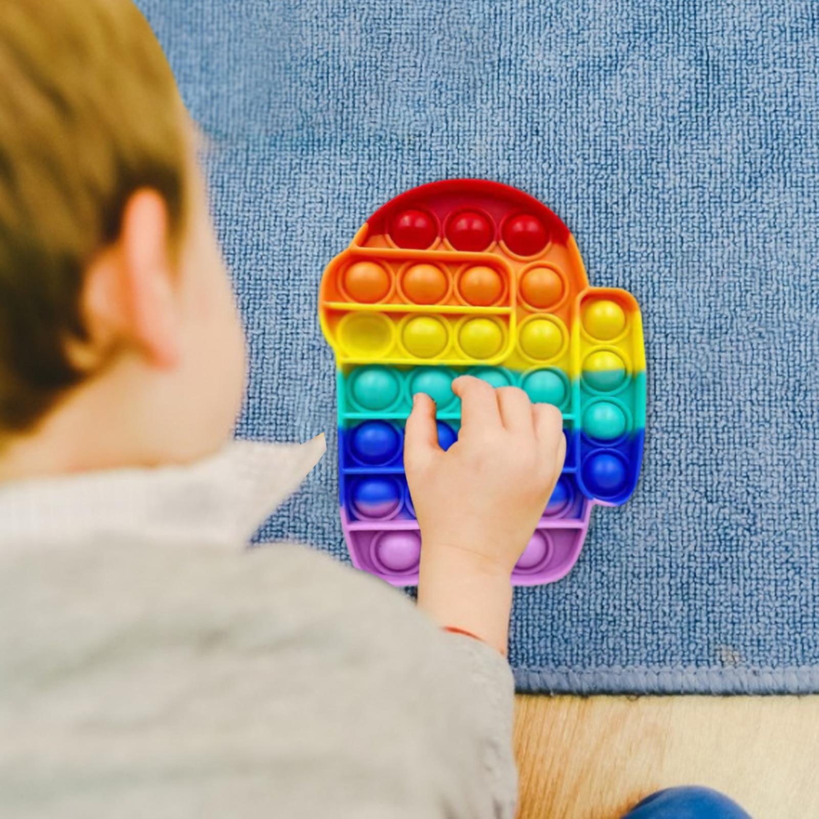 Толкать ее пузырь фиджет-антистресс игрушки для взрослых и детей в виде единорога динозавр поп-Непоседа сенсорные игрушка для аутистов осо...