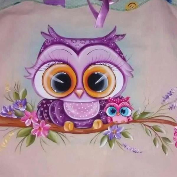 GATYZTORY Cartoon Owl DIY Diamond Painting Full Square Drill Diamond Embroidery  Handmade Home Decor Gift thumbnail