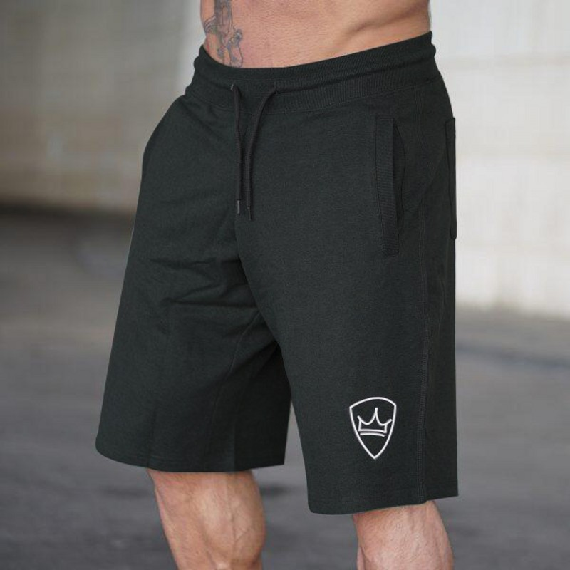 2019 Summer New Men Cotton Shorts Calf-Length Gyms Fitness Loose Casual Beach Workout Brand Short Pants Male Jogger Sweatpants