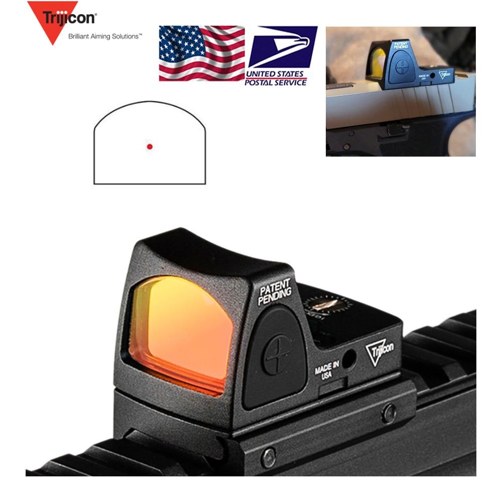 US Stock Mini RMR Red Dot Sight Collimator Glock Reflex Sight Scope fit 20mm Weaver Rail For Airsoft Hunting Rifle RL5 0004 2|Riflescopes| |  - title=