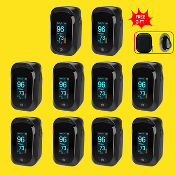 NEW!10pcs Fingertip Pulse Oximeter Pulse Oxymeter Blood Oxygen Saturation SPO2 Heart Rate Monitor Oximetro De Dedo Pulsioximetro yk 820mini 2 4inch color tft screen handheld pulse oximeter spo2 pulse rate blood oxygen monitor oxymeter