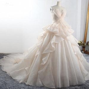 Image 3 - Robe de mariée de luxe, LZ398, robe de mariée magnifique et brillante, sur mesure, nouvelle collection
