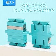 50 шт sc pc женский дуплексный волоконно оптический адаптер