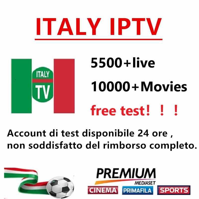 Iptv italia 5000 + canales en vivo 10000 + VOD italia Nederland Bélgica deportes polaco francés árabe iptv suscripción para iptv caja de tv