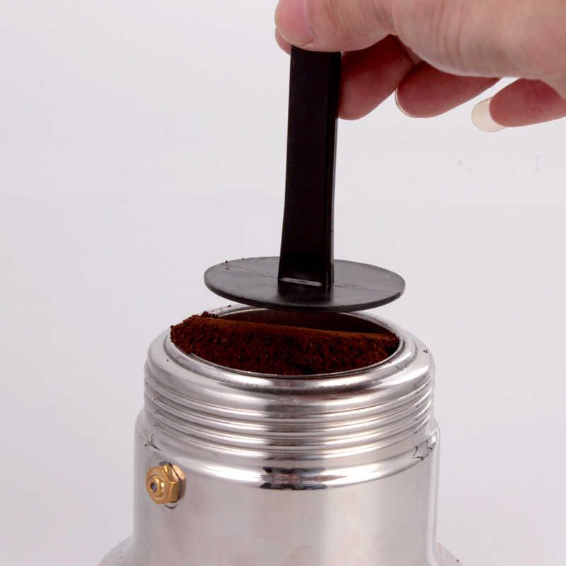 2 IN 1 10 G ölçü sıkıştırma kepçe kahve sabotaj siyah Express standı kahve kaşığı kahve ve çay mutfak eşyaları mutfak aksesuarları