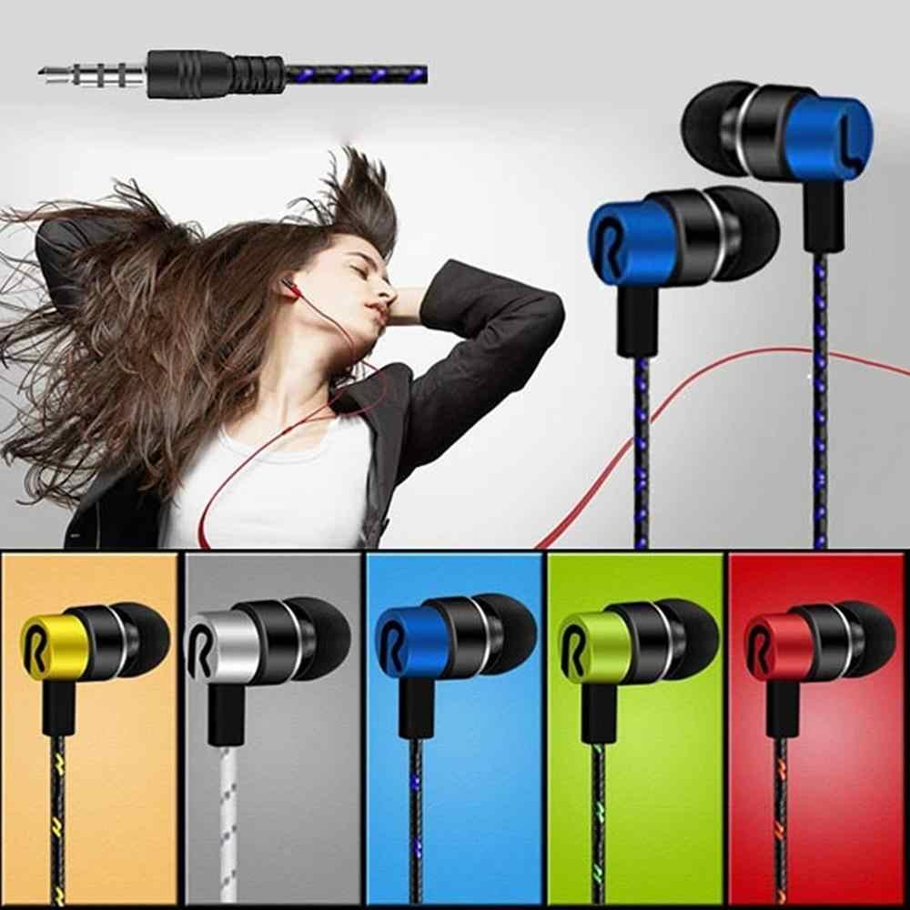 Fineblue سماعة أذن رياضية 3.5 مللي متر في الأذن سماعات أذن استريو تشغيل سماعة لسامسونج آيفون MP3 الموسيقى
