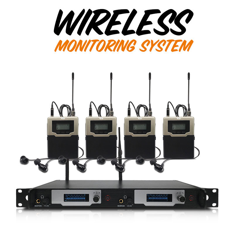 Professionelle Stereo <font><b>In</b></font> Ohr Wireless <font><b>Monitor</b></font> <font><b>System</b></font> 606-830MHZ Digitale <font><b>In</b></font>-ohr <font><b>Monitor</b></font> <font><b>System</b></font> für Leistung image