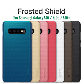 For Samsung Galaxy S10 S10e S10 Plus Case Nillkin Case Super Frosted Shield Hard PC Cover For Samsung S10 Plus Gift Phone Holder shockproof tpu hard pc case for samsung galaxy s10 plus s10e s10 5g s10plus cases dual hybrid back cover with bracket capa