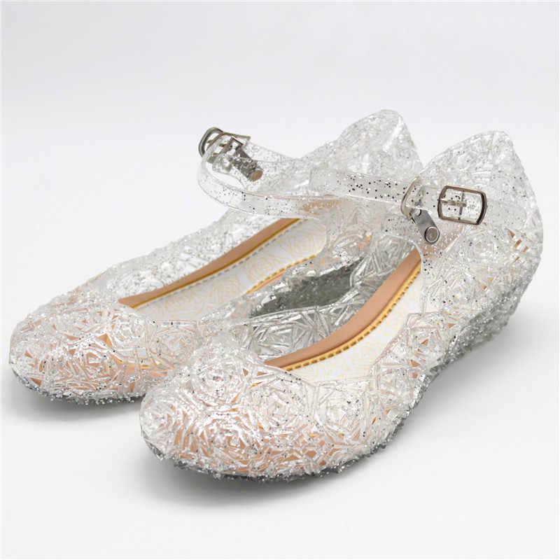 เด็กวุ้นรองเท้า CUT-OUT Girls รองเท้าส้นสูง MINI MELISSA 2020 สาวน้อยรองเท้าแตะฤดูร้อนเจ้าหญิงคริสตัลรองเท้า