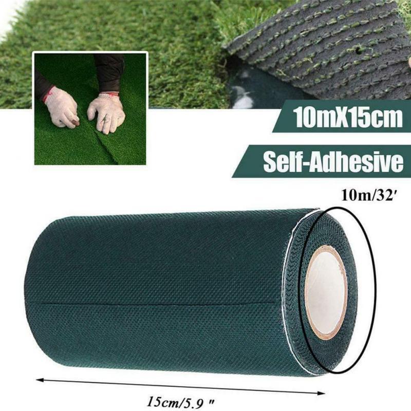 5m x 15cm bricolage gazon artificiel Jointing auto-adhésif ruban synthétique gazon pelouse tapis couture ruban pelouse tapis jardin outils nouveau