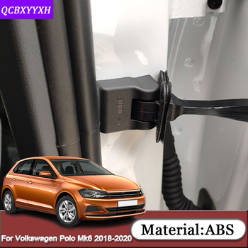 For Volkswagen Polo Mk6 AW Virtus Sedan 2018-2020 ABS Car Door Lock Protective Covers Door Check Arm Protector Auto Accessories image