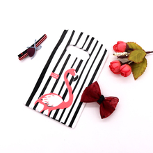 Wholesale 100pcs/lot 9X15cm New Design Black&white Striped Packaging Bags for Gift Small Plastic Jewellery Pouches Free Shipping
