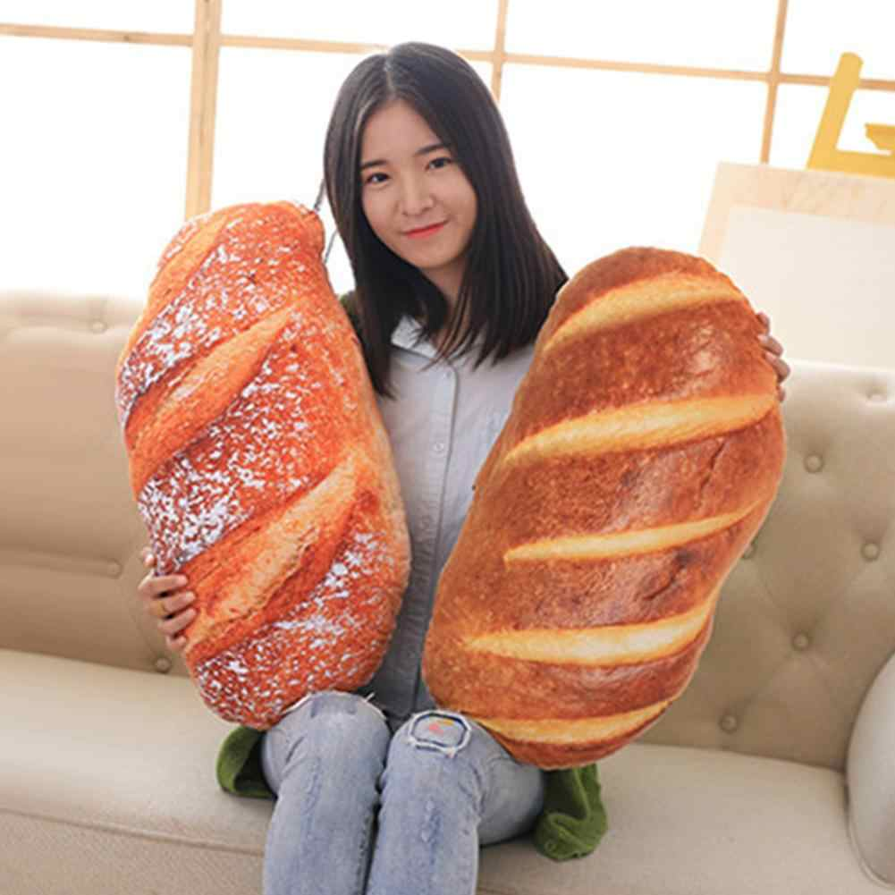 3D simüle Ham ezmesi susam ekmek modeli dolması Doll arka yastık ev dekor gıda peluş yastık simüle aperatif dekorasyon