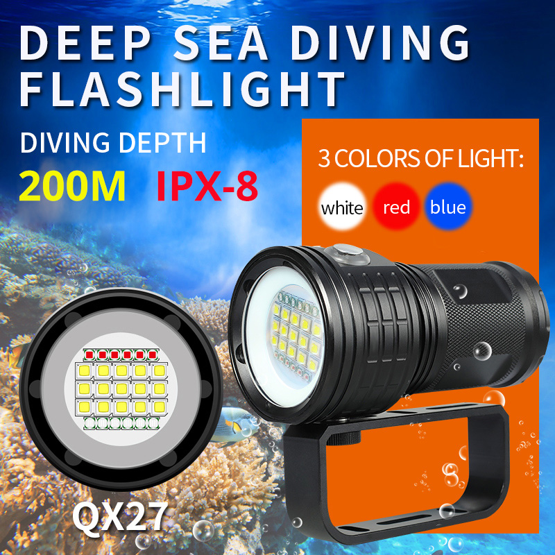 60000lumens Professional Diving Flashlight L2 Portable Scuba Dive Torch 200M Underwater IPX8 Waterproof 4*18650 Flashlights Lamp