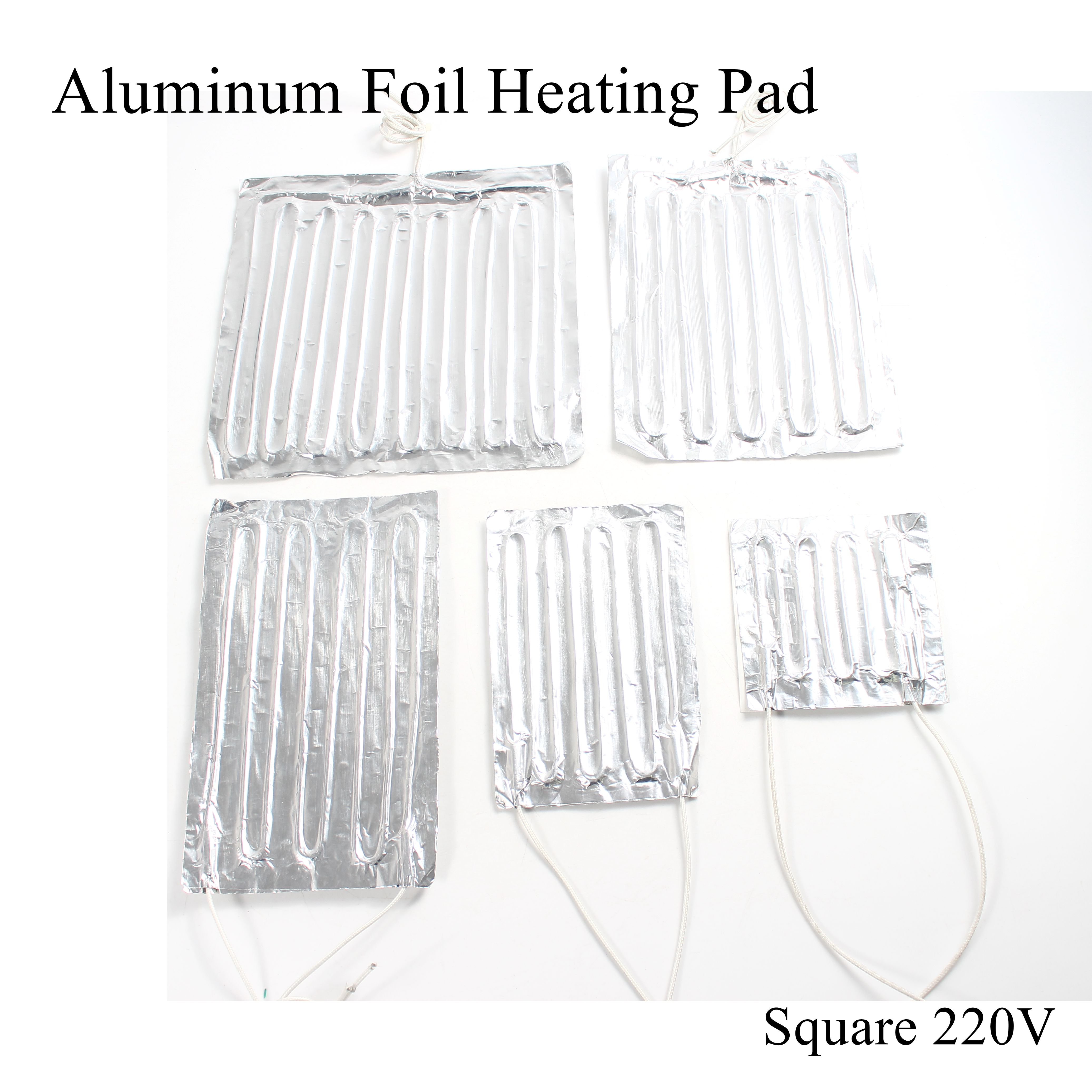220V Aluminum Foil Heating Pad Square Heat Mat Heated Bed Plate Heater Self-adhesive Flexible Waterproof For 3D Printer Diesel