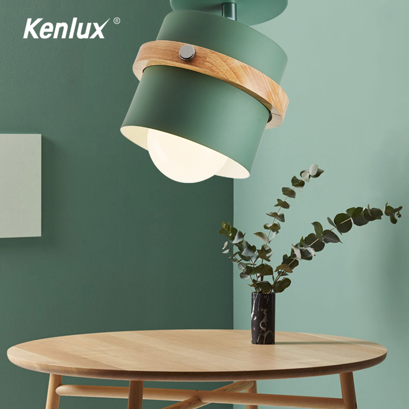 LED Wooden <font><b>Wall</b></font> Light 5W Led Surface Mounted Ceiling Light <font><b>Nordic</b></font> Spot light for indoor Foyer,Living Room Bedroom Ceiling <font><b>Lamp</b></font> image