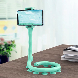 Universal Lazy Holder Arm Flexible Mobile Phone Holder Suction Cup Stand Wall Desk Bicycle Stents Caterpillars Bracket for Phone