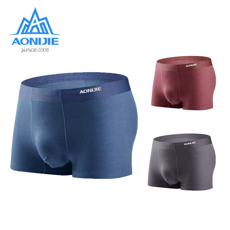 Aonijie 3 Pcs/Set Sports Panties Quick Drying Comfortable Breathable Men Underwear Outdoor Camping Hiking Boxer Shorts E7004