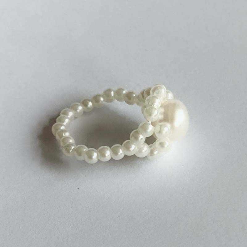 Nuevo anillo de perlas a la moda para mujer lindo Panda anillos de mano animales para niños anillos ajustados joyería regalos anillos mujer