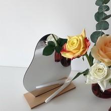 Espejo decorativo coreano Ins Irregular, espejo acrílico para maquillaje, Base de madera, herramienta cosmética, sala de belleza, herramientas de fotografía de escenario