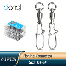 Ball-Bearing Snap Swivel-Link Fishing-Tackle Fishing-Swivels-Connector DONQL Rolling
