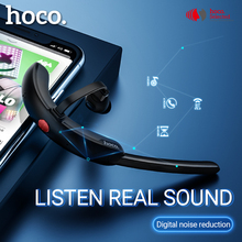 Hoco auriculares internos con micrófono, inalámbricos con reducción de ruido, auriculares manos libres con diseño de gancho de conducción para iPhone, Huawei, Xiaomi