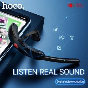 Image 1 - Hoco bezprzewodowy zestaw słuchawkowy z redukcją szumów zestaw głośnomówiący douszne z mic dla jazdy haczyk projekt dla iPhone Huawei Xiaomi earbud