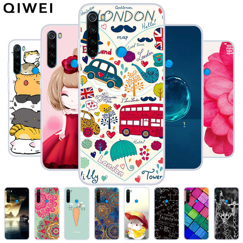 Soft TPU Case For Xiaomi Redmi Note 8T Cover Slim Cartoon Silicone Phone Back Cover Cases on for Redmi Note8T Note 8 Pro Note8