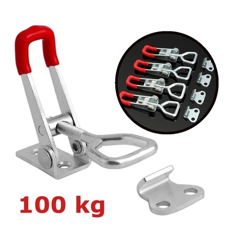 1pcs <font><b>GH</b></font>-<font><b>4001</b></font> Horizontal Toggle Clamp Quick-Release Toggle Clamps Set 100KG(220 Lbs) Vertical Toggle Clamp Hand Clip Tool image