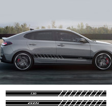 Autocollant de voiture, 2 pièces, pour Hyundai Elantra Accent Tucson i40 i30 i10 i20 Veloster IX35 IX20 Solaris Genesis Santafe GDi, accessoires