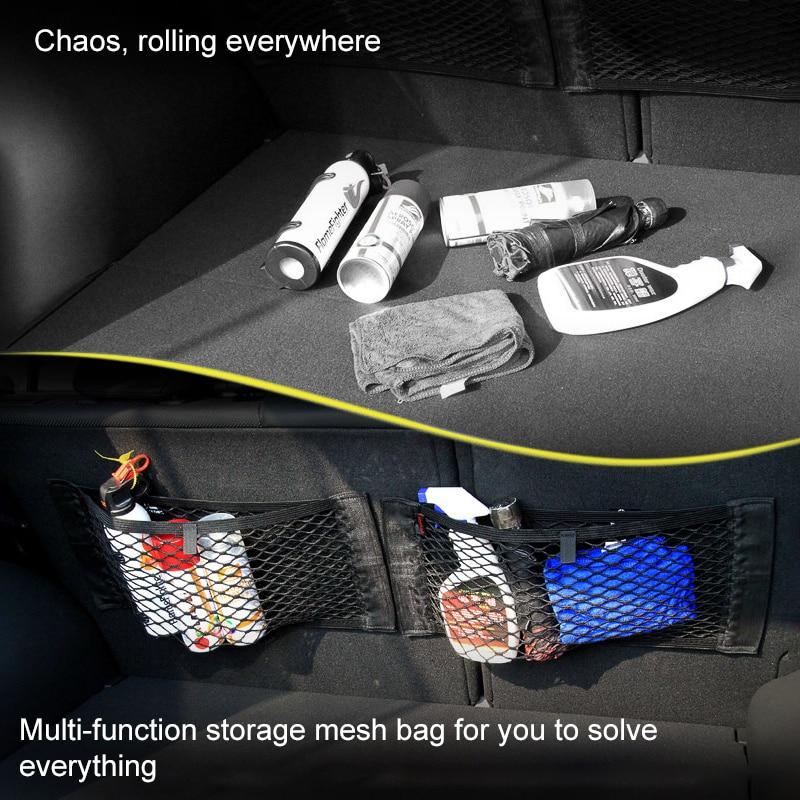 Сетка для заднего сиденья автомобиля, универсальная сумка для хранения на спинку сиденья 2