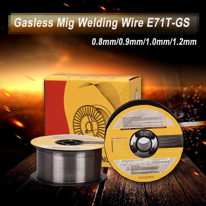 1 Roll 1KG Welding Wire 0 8mm 0 9mm 1mm 1 2mm Solid-Cored MIG Welder Tools for Food General Chemical Equipment