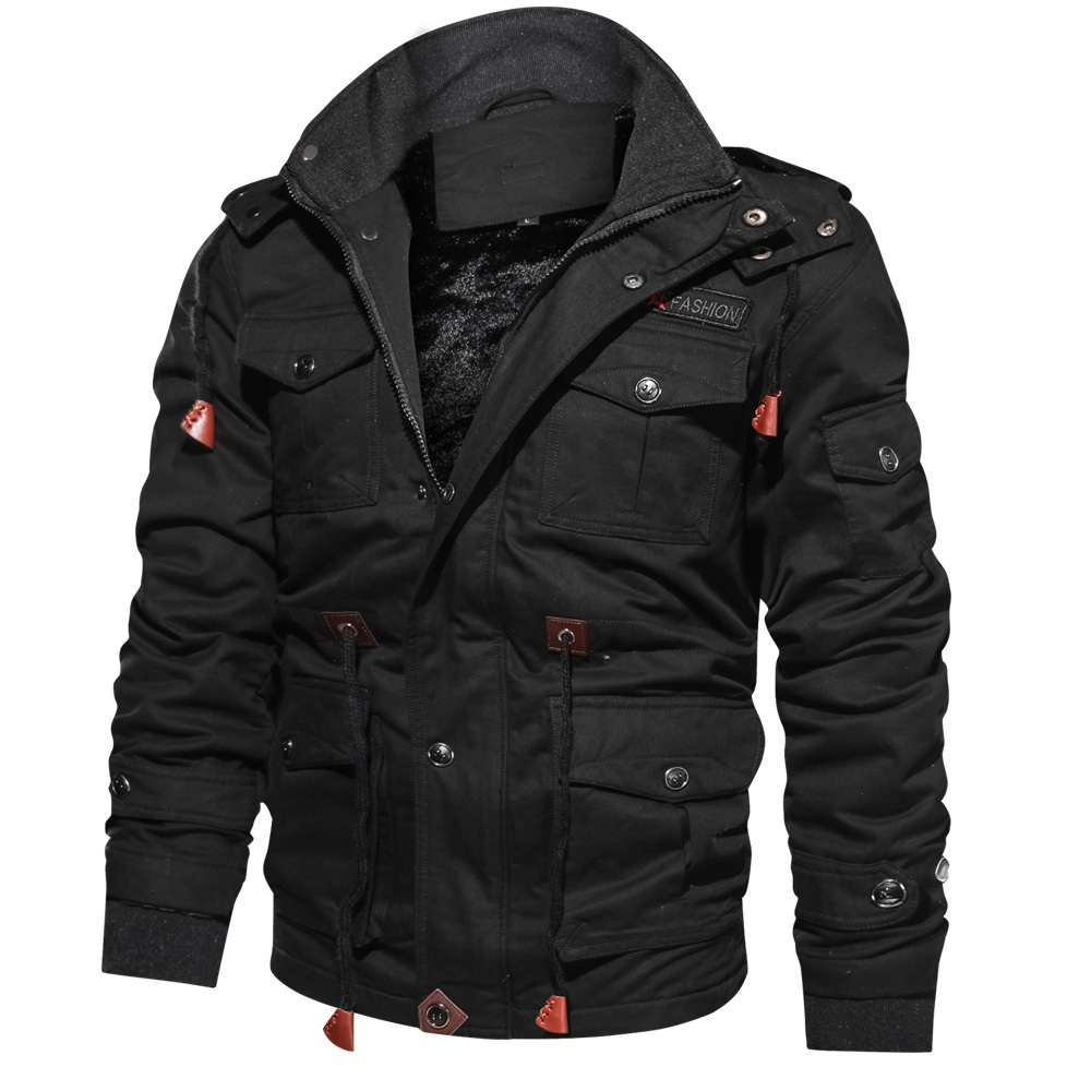 Winter Jackets Parka Men Hooded Fashion Brand Thicken Fleece Warm Windproof Basic Black Outerwear Zipper High Quality Male Coats in Jackets from Men 39 s Clothing