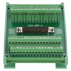 SCSI68 68-pin typu DB złącze żeńskie pokładzie moduł terminala dla PLC/montaż na szynie DIN