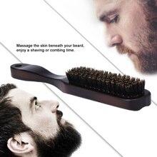 Мужская лицевая щетка для бороды, деревянная расческа для усов, Мужская щетка для бритья, многофункциональная щетка для волос для лица