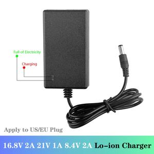 Image 2 - Lithium Battery Charger DC 5.5 * 2.1MM 21V 1A 8.4V 2A 16.8V 2A 18650 EU/US Plug 100 240V Lithium Li ion Battery Wall Charger