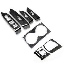 1 компл. Для 2017 2018 2019 Mazda Cx-5 Cx5 Kf Lhd панель переключателя окна автомобиля + коробка переключения передач автомобиля панель наклейка отделка пол...
