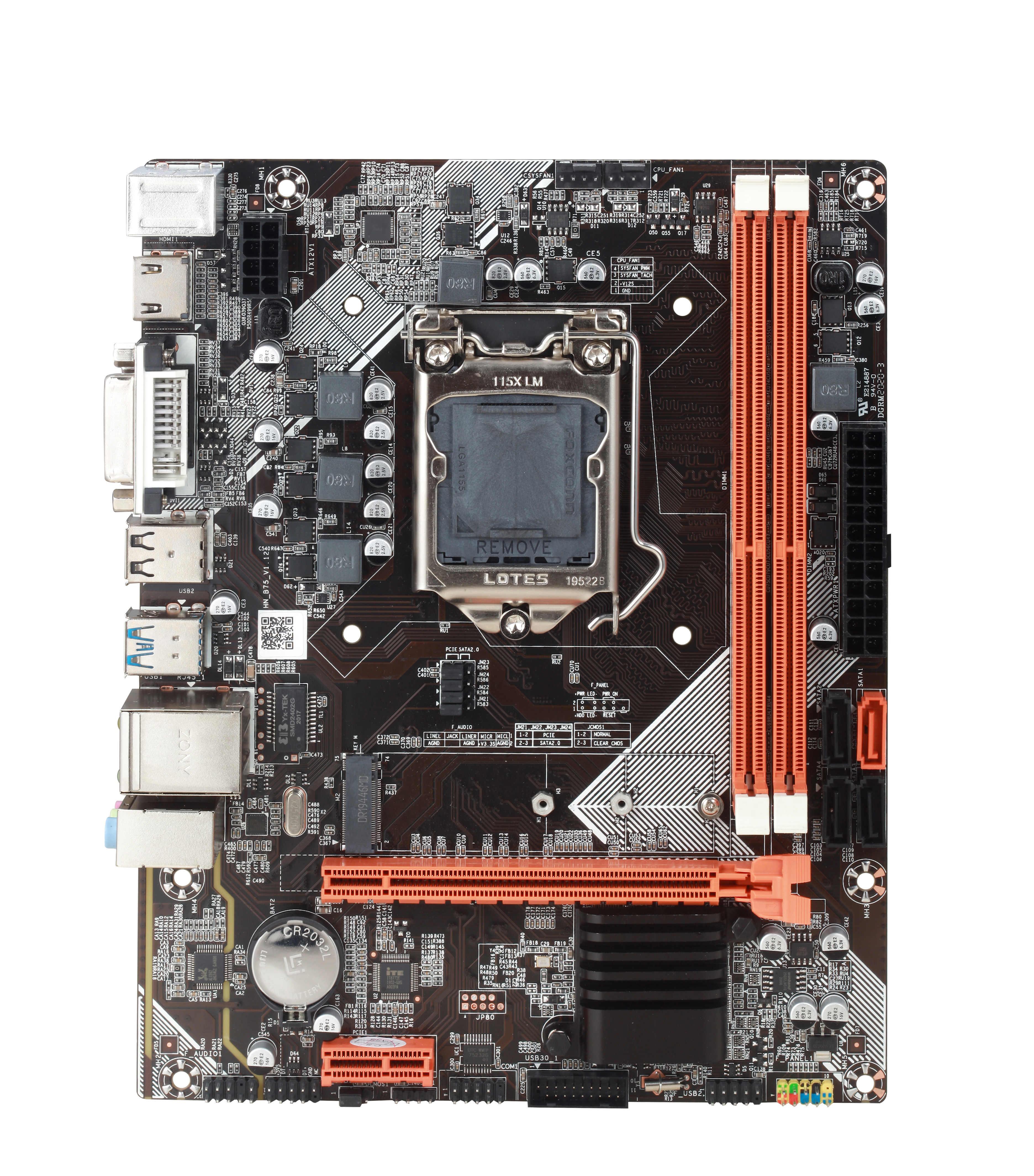 Atermiter B75 M-ATX anakart Intel LGA 1155 i3 i5 i7 E3 DDR3 1333/1600MHz 16GB SATA3.0 USB3.0 PCI-E VGA HDMI oyun LGA1155