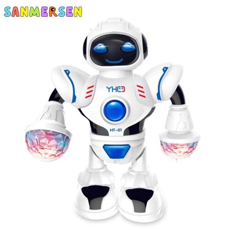 Electronic Dancing Rotating Music Dazzling Light Robot Children Birthday Gift