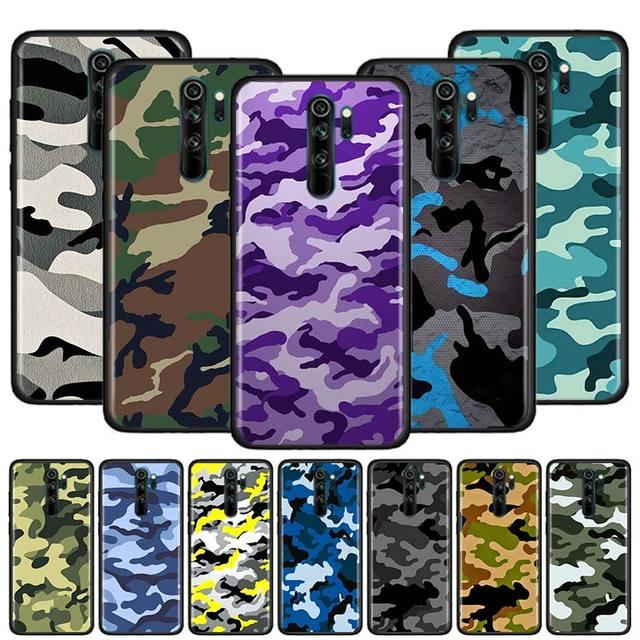 Thin Cover for Redmi Note 9 9S 9 9A 9C 8T 8 7S 7 6 Pro 8 7 6 8A 7A 6A K20 K30 Pro Phone Shockproof Case Camouflage Pattern Camo