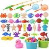 Magnetyczne wędkowanie dla dzieci zabawki interaktywne dla rodziców i dzieci gry dla dzieci 1 pręt 1 netto 12 3D ryby zabawki do kąpieli dla niemowląt zabawki do zabawy na zewnątrz