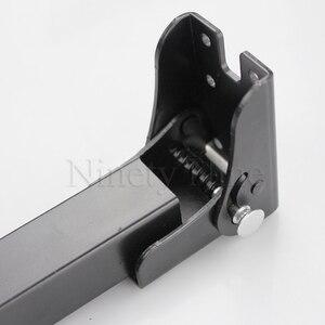 Image 4 - 2Pcs מתקפל ספה מיטת שולחן שולחן ספסל למעלה בר רגל רגליים שחור RV להסתיר מתקפל נסתר רגליים