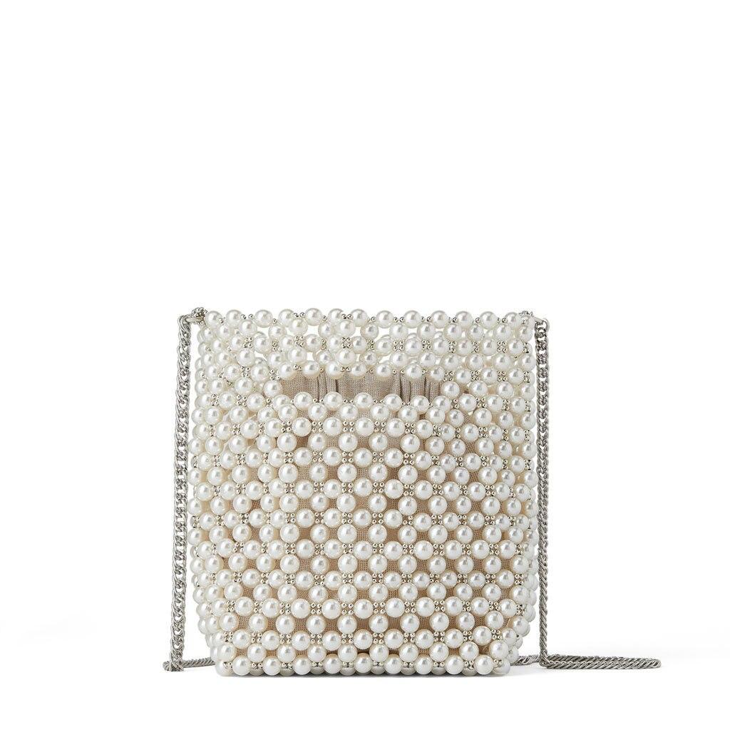 Small Women Bag Pearl Bag Designer Luxury High Quality Bead Bags For Women Fashion Ladies Hand Bags Woman Handmade Pear Bags