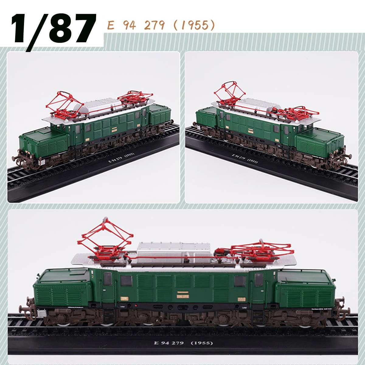 LBLA Retro Train Model Class 1:87 E 94 279 (1955) Retro Steam Diesel Locomotive Train Model Building Blocks Toys Child Gift