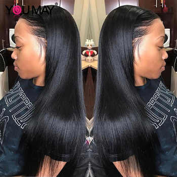 250 Density 13X6 Lace Front Human Hair Wigs For Women Fake Scalp Barzilian Straight 360 Lace Frontal Wig Pre Plucked YouMay Remy - DISCOUNT ITEM  40% OFF All Category