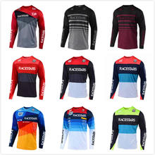 RACESTARS Motorcycle Jersey Maillot Ciclismo MTB Jersey DH MX Bicycle Cycling Jersey Bike downhill fit STEAMLINE Fast Dry Smooth cheap Polyester Stretch Spandex Full Unisex RACESTARS-Motocross Jersey Spring summer AUTUMN Winter Jerseys No Zipper Fits true to size take your normal size