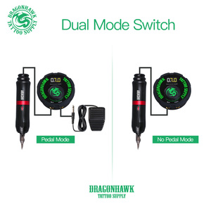 Топ Круглый источник питания для тату педаль Dragonhawk LCD двойная Татуировка Пулемет Электропитание