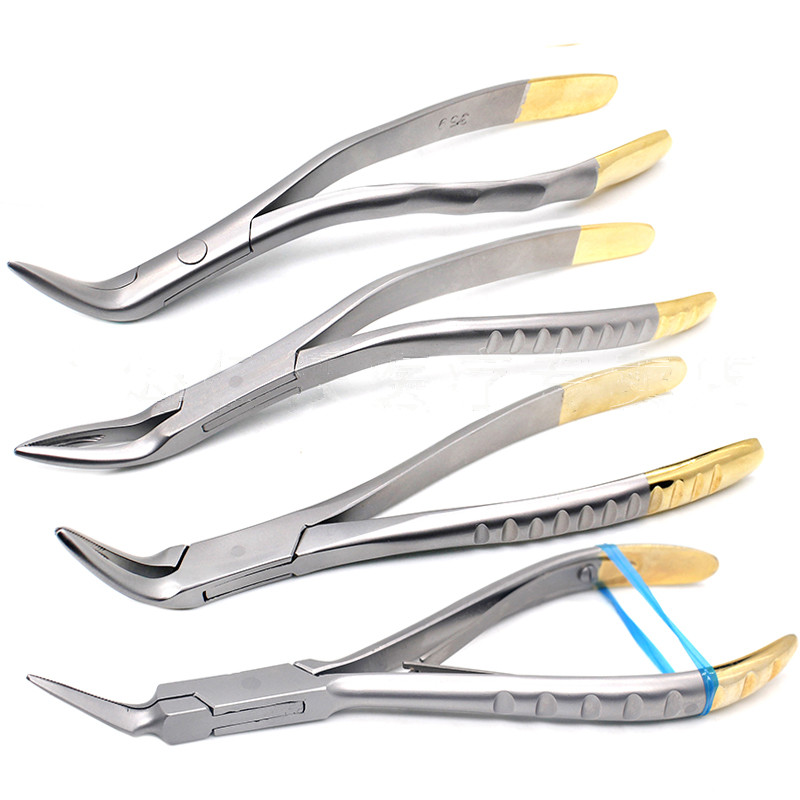 Dental Root Fragment Minimally Invasive Tooth Extraction Forcep Tooth Pliers Dental Instrument Curved Maxillary Mandibular Teeth