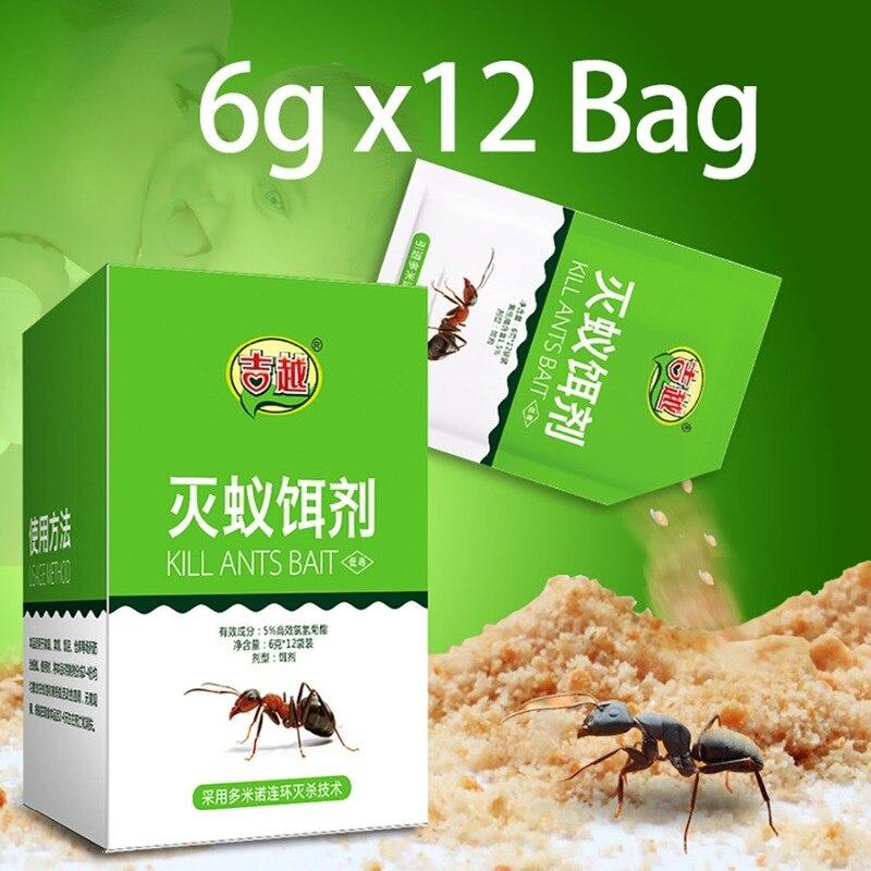 12 Pcs Ant Trap Food Powder Non-toxic Poison Killing Bait Ants Nest Farm Trap Repellent Repeller Pest Control Destroy Ant Killer
